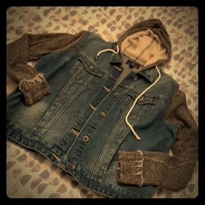 Jean/sweatshirt jacket